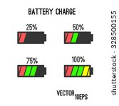 battery charge vector icon set