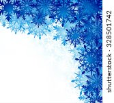 winter background  snowflakes   ... | Shutterstock .eps vector #328501742
