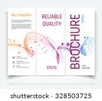 vector modern tri fold brochure ... | Shutterstock .eps vector #328503725