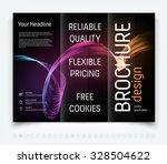 vector modern tri fold brochure ... | Shutterstock .eps vector #328504622
