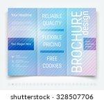 vector modern tri fold brochure ... | Shutterstock .eps vector #328507706