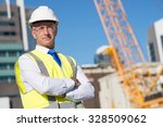 confident construction engineer ... | Shutterstock . vector #328509062