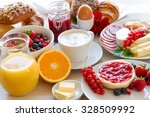 breakfast table | Shutterstock . vector #328509992