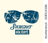modern style summer emblem with ... | Shutterstock .eps vector #328514186