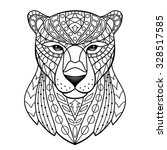 panther. vector illustration... | Shutterstock .eps vector #328517585