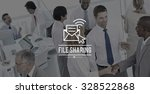 file sharing online email...   Shutterstock . vector #328522868