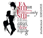 Fashion Quote. Letters And Fac...