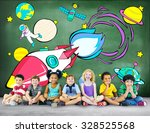 rocket launch space outerspace... | Shutterstock . vector #328525568
