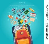 education concept with school... | Shutterstock .eps vector #328538642