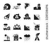 flat monochrome icons set of... | Shutterstock .eps vector #328538696