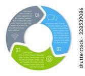 vector round infographic... | Shutterstock .eps vector #328539086
