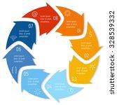 vector round infographic... | Shutterstock .eps vector #328539332