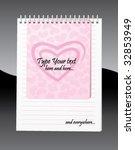 love letter page | Shutterstock .eps vector #32853949