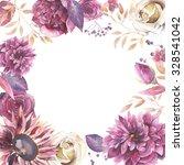 Watercolor Vintage Floral Fram...