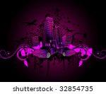 urban vector composition   Shutterstock .eps vector #32854735