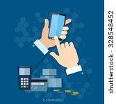 nfc payment modern smartphone... | Shutterstock .eps vector #328548452
