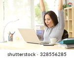 euphoric and surprised winner... | Shutterstock . vector #328556285