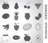 fruit icons set illustration | Shutterstock .eps vector #328558046