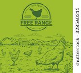 illustration of a flock of... | Shutterstock .eps vector #328560215