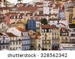 crowded together old apartment... | Shutterstock . vector #328562342