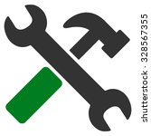 hammer and wrench vector icon.... | Shutterstock .eps vector #328567355