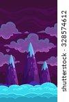 vertical cartoon night... | Shutterstock .eps vector #328574612