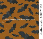 seamless background with bats.... | Shutterstock .eps vector #328575158