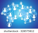 global technology social network | Shutterstock .eps vector #328575812