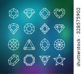linear diamond icons set on the ...   Shutterstock .eps vector #328575902