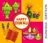 illustration of happy diwali... | Shutterstock .eps vector #328576196