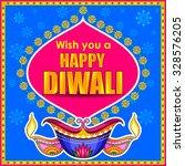 illustration of happy diwali... | Shutterstock .eps vector #328576205
