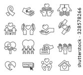 charity silhouette icons.line...   Shutterstock .eps vector #328578266