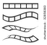 various vector film strips for... | Shutterstock .eps vector #32858383