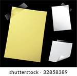 various vector note paper for... | Shutterstock .eps vector #32858389