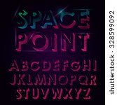 abstract neon vector font with... | Shutterstock .eps vector #328599092
