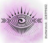 Abstract Eye Tattoo Emblem With ...