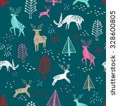 scandinavian seamless pattern... | Shutterstock .eps vector #328600805