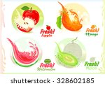 fresh fruits collection | Shutterstock .eps vector #328602185