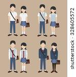 set of school uniform vector | Shutterstock .eps vector #328605572
