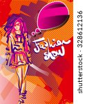 fashion show poster   Shutterstock .eps vector #328612136