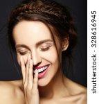 glamour portrait of beautiful ...   Shutterstock . vector #328616945