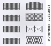 fence picket icon set . vector... | Shutterstock .eps vector #328618535