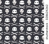 halloween skull pattern   Shutterstock .eps vector #328624262