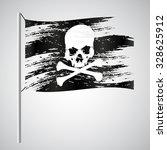 black pirate flag grunge style... | Shutterstock .eps vector #328625912