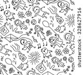 sketchy elements seamless... | Shutterstock .eps vector #328627916