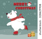vintage christmas poster design | Shutterstock .eps vector #328629908