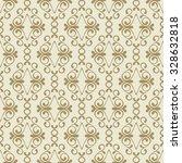vector seamless golden flourish ... | Shutterstock .eps vector #328632818