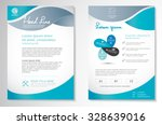 vector brochure flyer design... | Shutterstock .eps vector #328639016