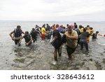lesbos  greece  oktober 11 2015 ... | Shutterstock . vector #328643612