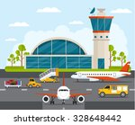 Airport With Infographic...